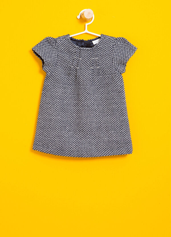 Two-tone jumper dress with puff sleeves | OVS