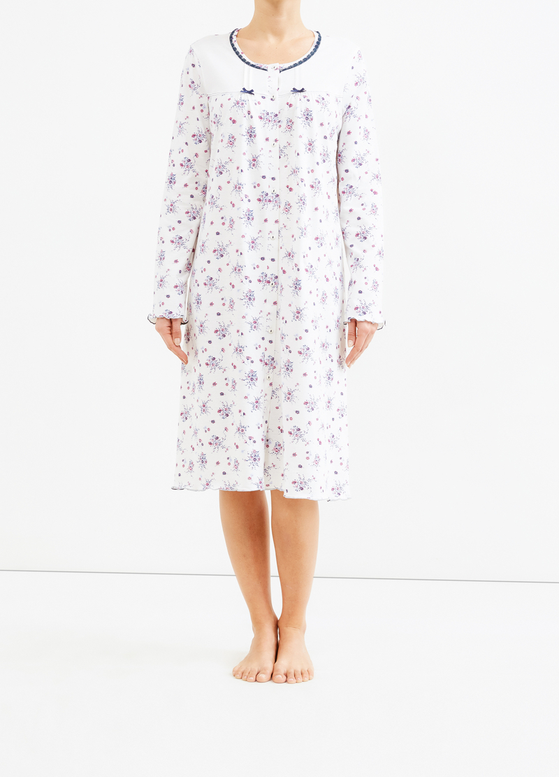 Floral nightshirt with bows image number null