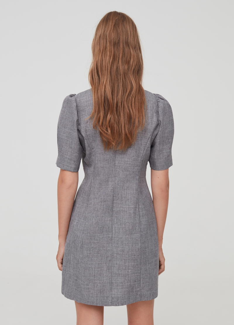 Short dress with puff sleeves image number null