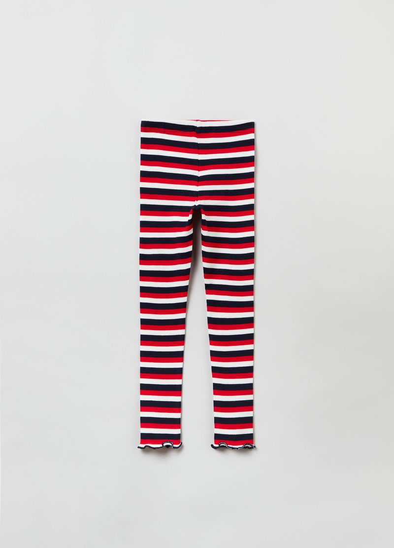 Leggings a righe multicolor image number null