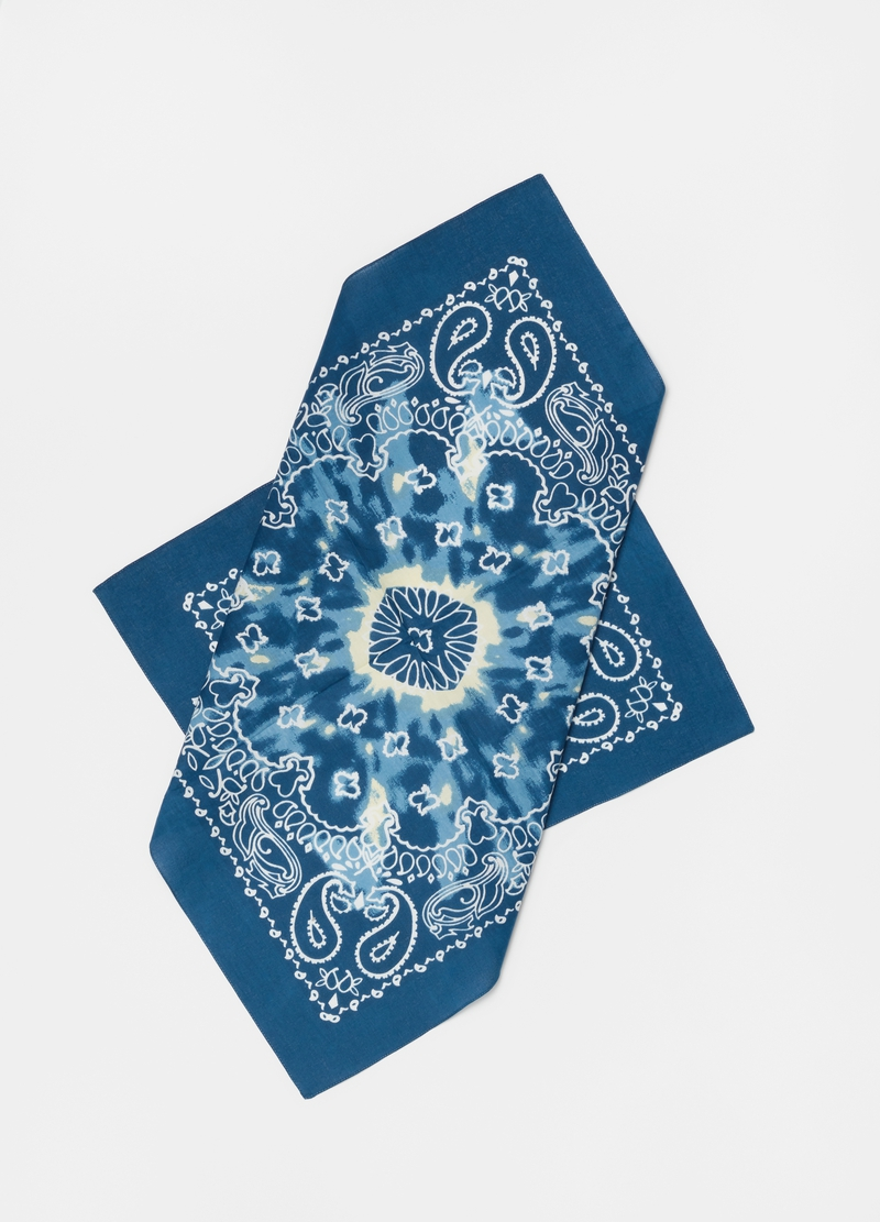 Cotton foulard with cashmere pattern image number null