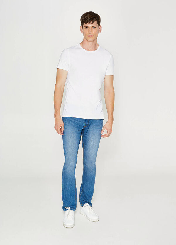 Jeans regular fit effetto used | OVS