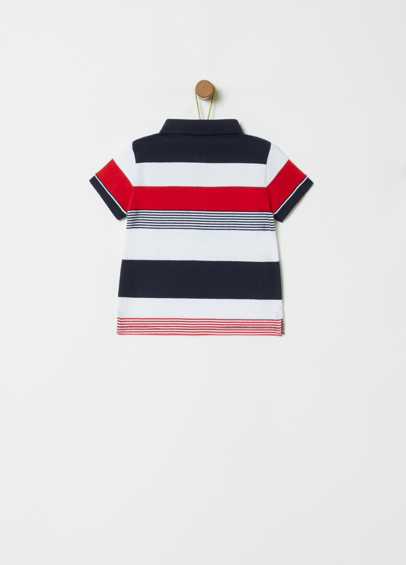 100% organic striped polo shirt image number null