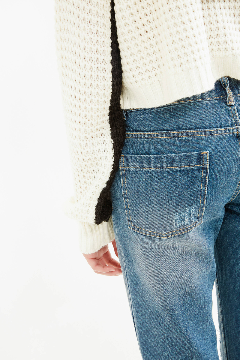 Jeans girlfriend used con strappi image number null