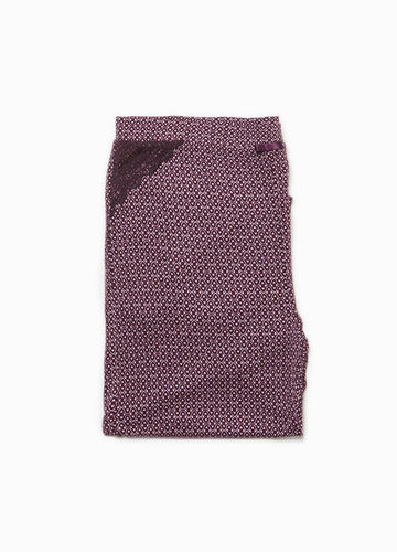 Pyjama trousers in patterned viscose