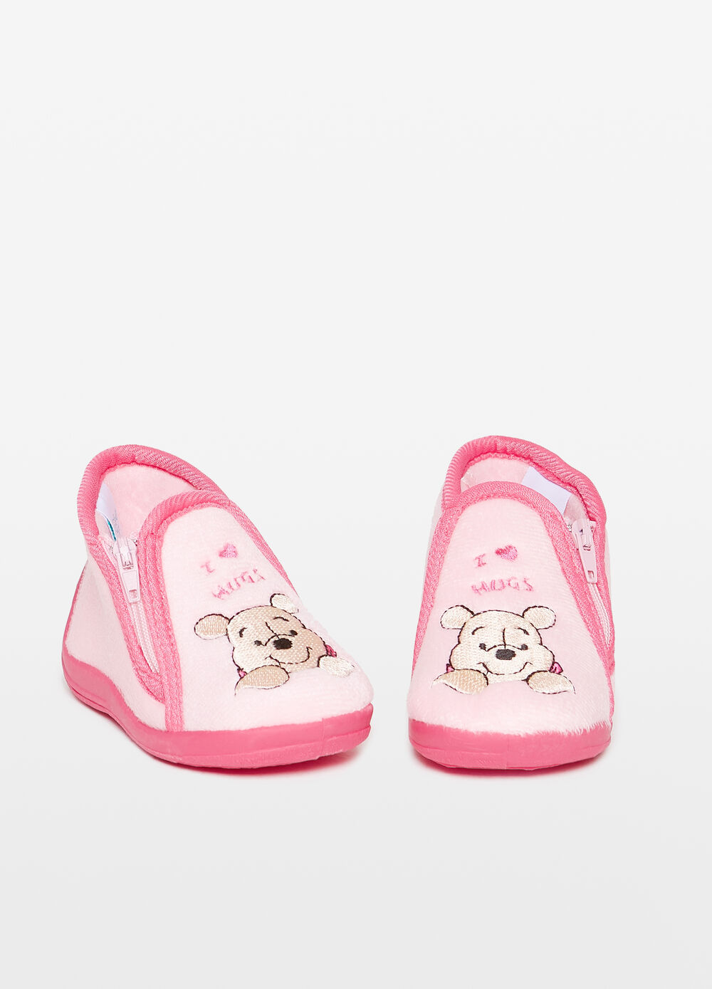Winnie the Pooh slippers with zip