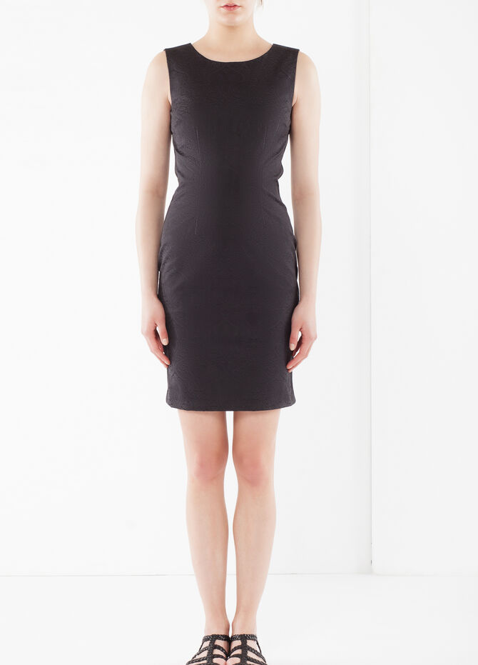 Embossed pencil dress