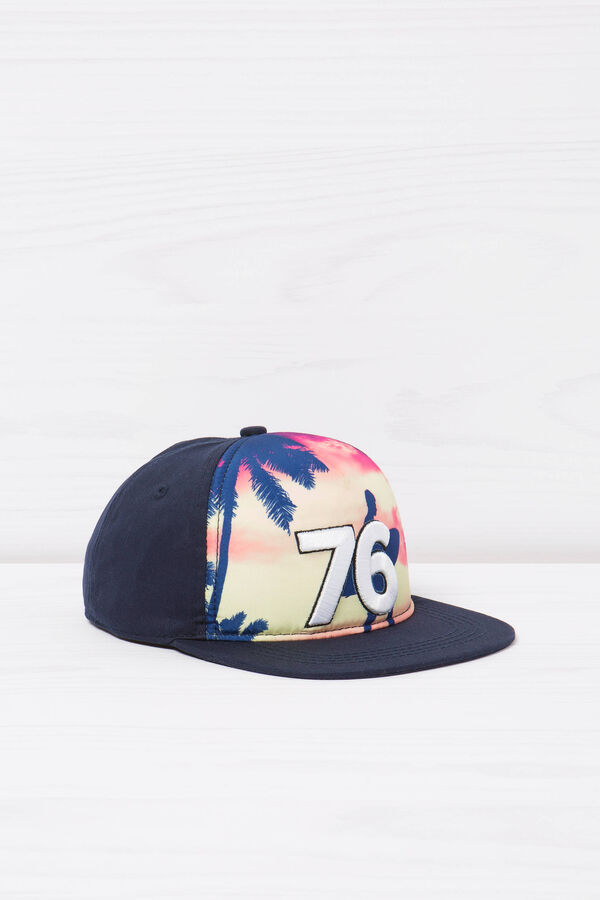 Baseball cap with print on front | OVS
