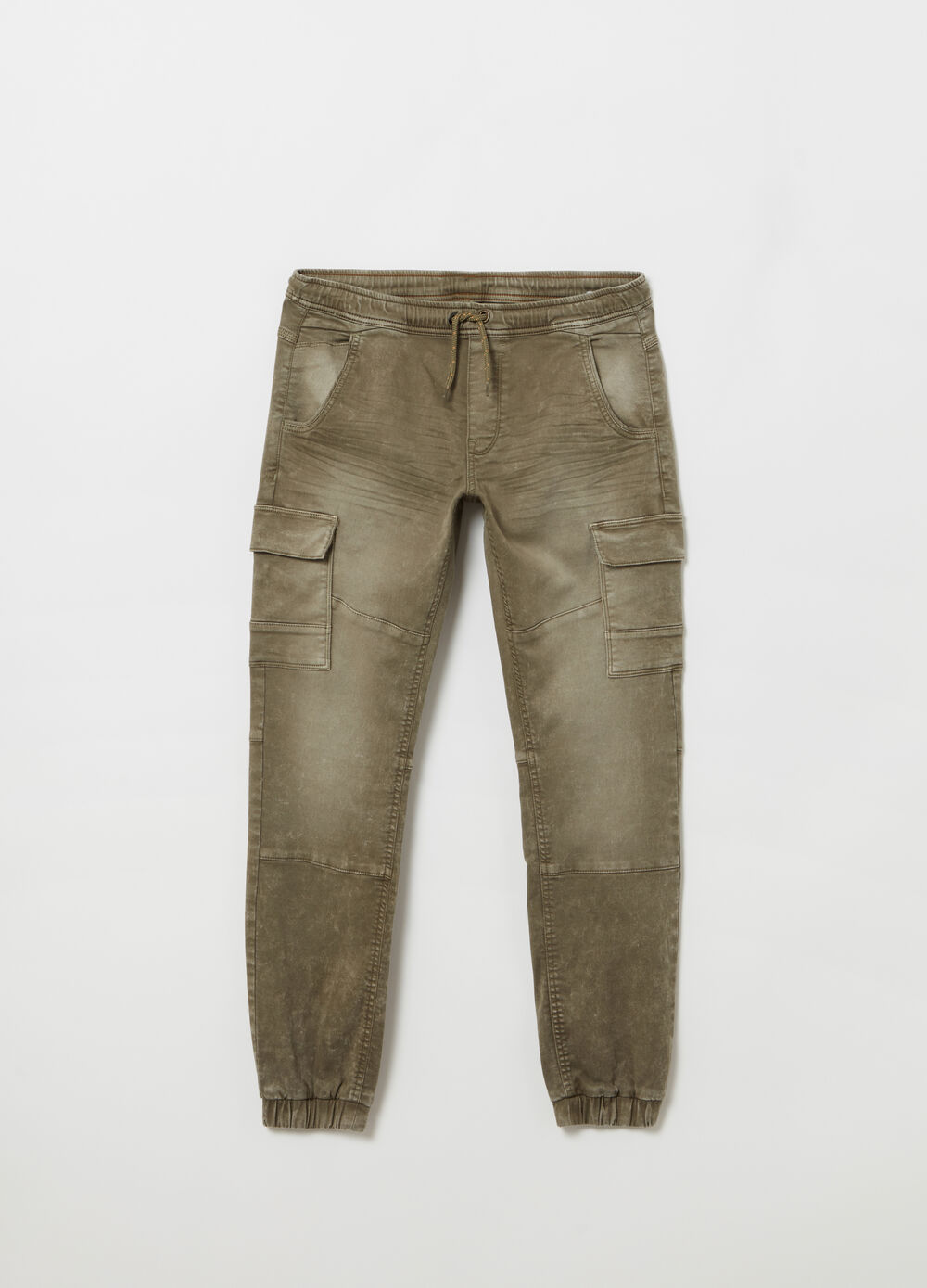 Comfort-fit cargo chino trousers