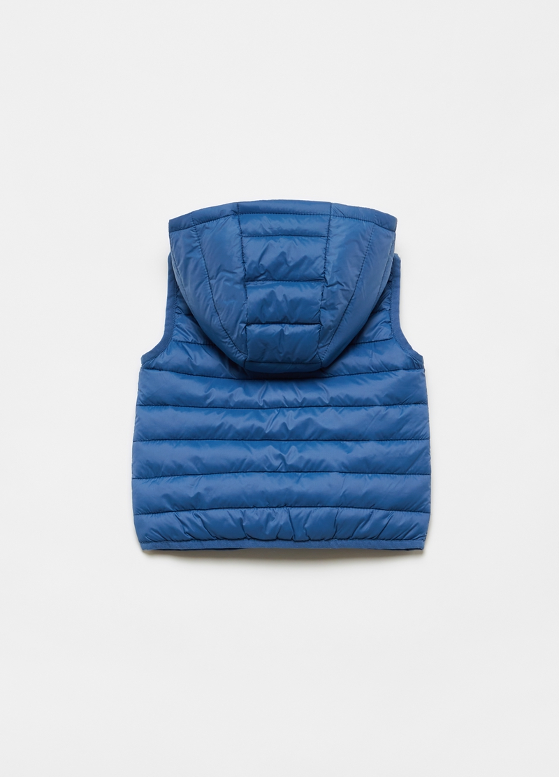 Padded gilet with hood image number null