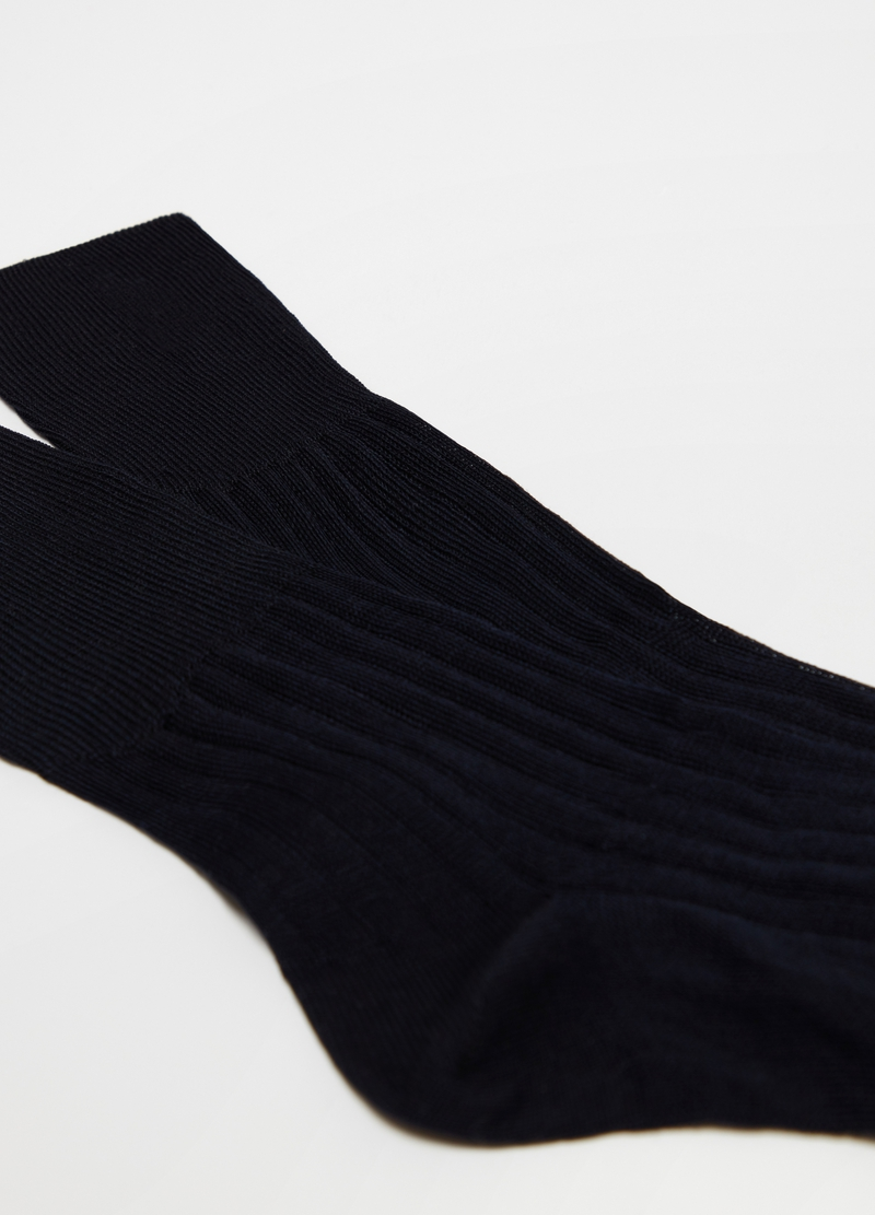 100% cotton ribbed short medical socks image number null