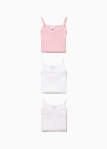 Three-pack sleeveless floral bodysuits