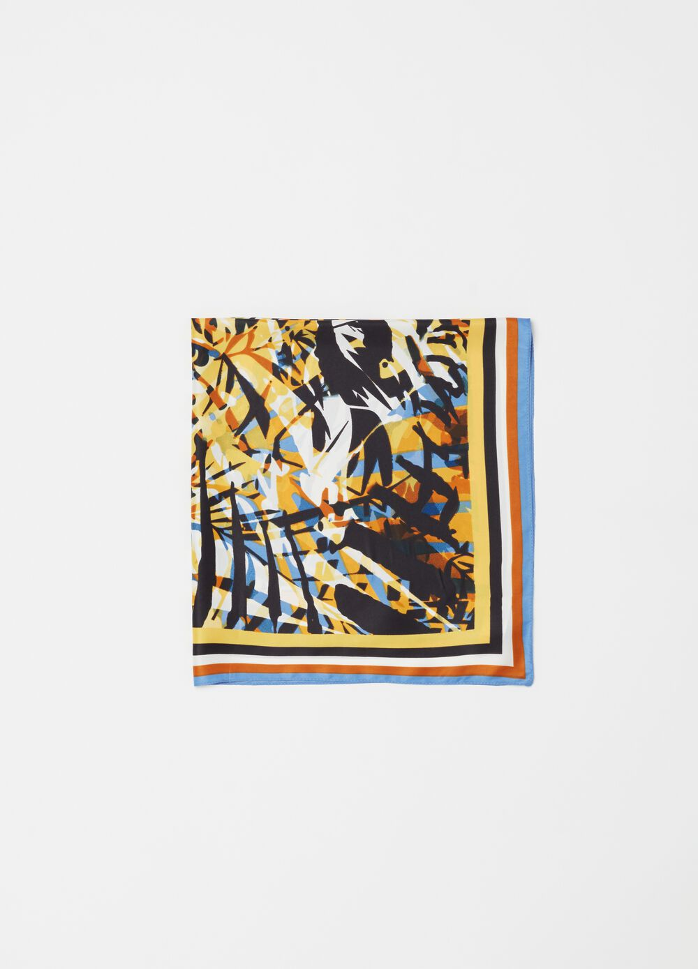 Foulard with tiger print
