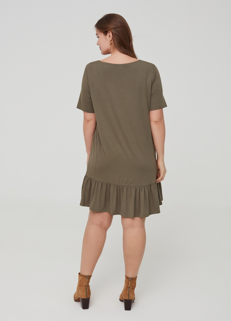 Curvy dress in stretch jersey image number null