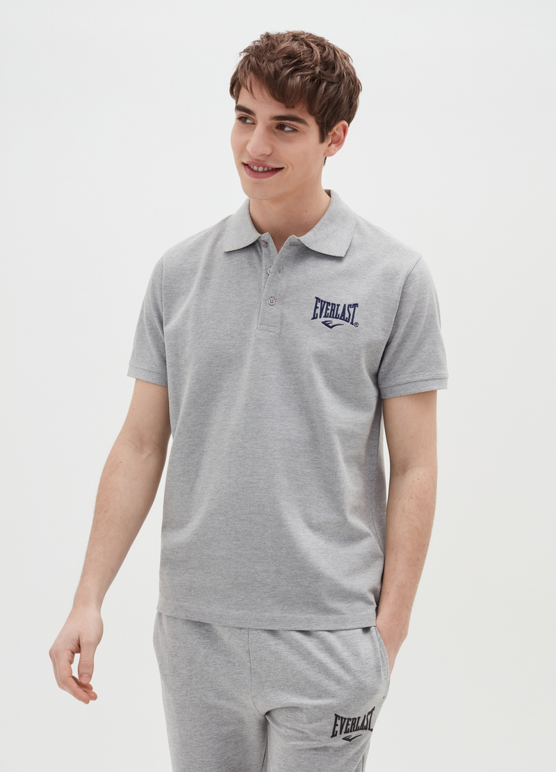 Everlast mélange polo shirt in cotton piquet image number null