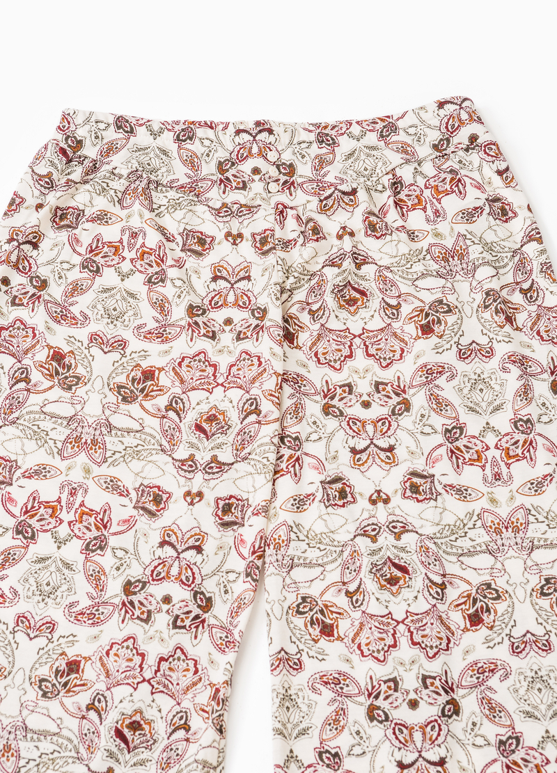 Floral viscose pyjama trousers image number null