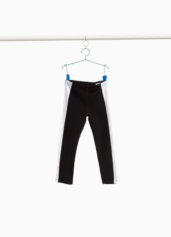 Crop leggings with side bands