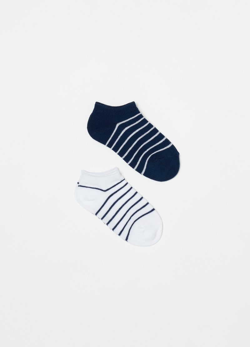 Two-pack stretch shoe liners with stripes image number null