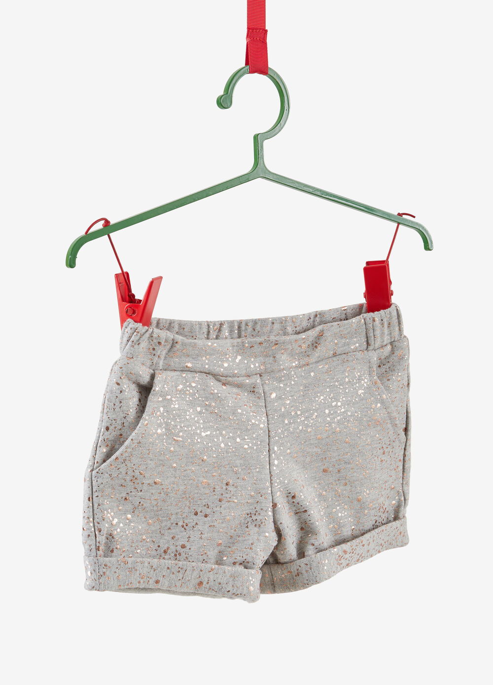 Shorts cotone stretch glitter