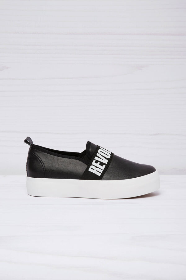 Leather look slip-ons with thick sole   OVS