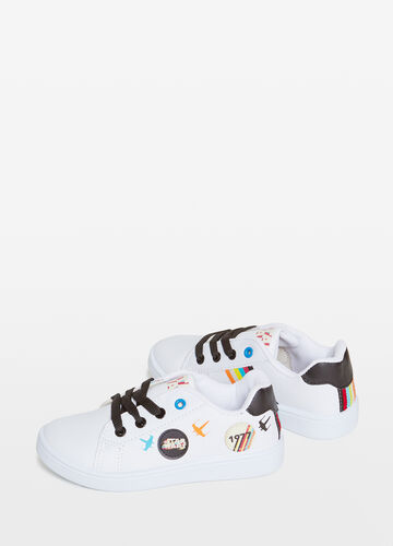 Sneakers with Star Wars patch and print.