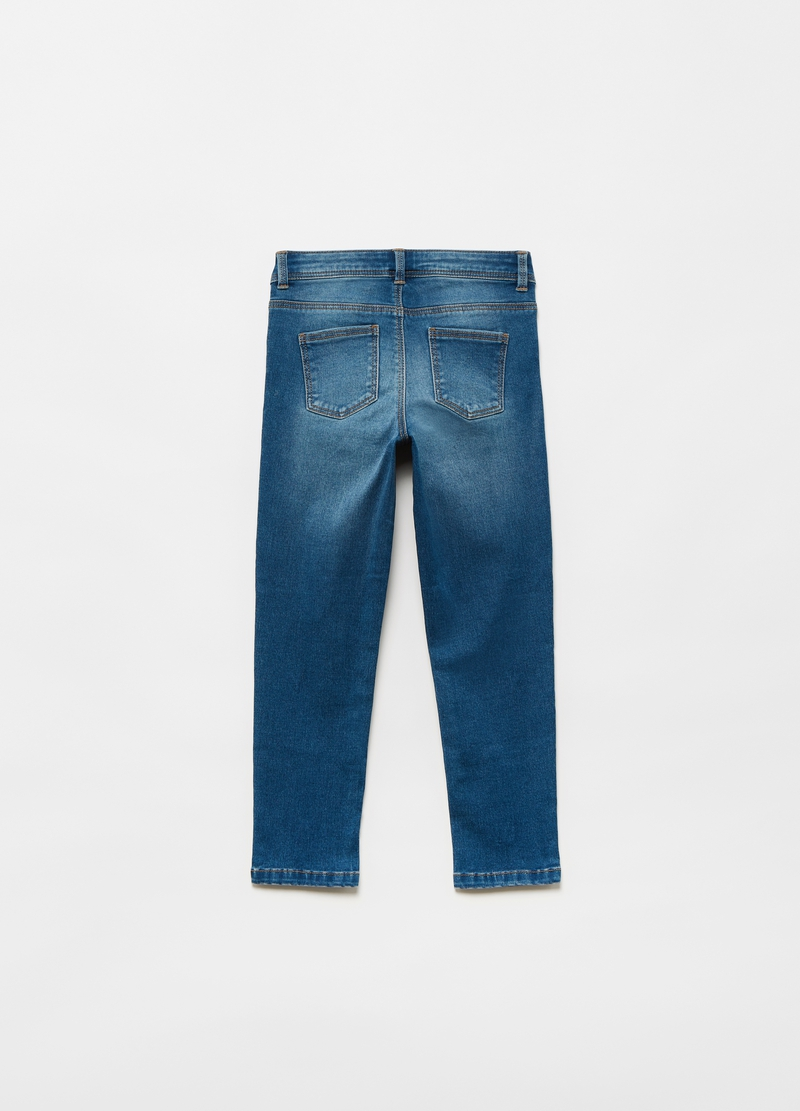 Jeans con ricami lettering image number null