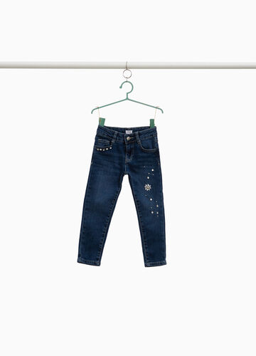 Jeans stretch used con strass