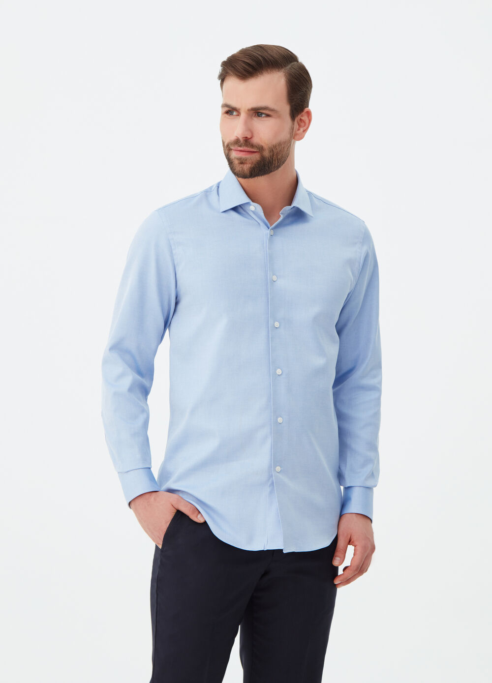 aed87853df57 100% cotton regular-fit shirt with pattern