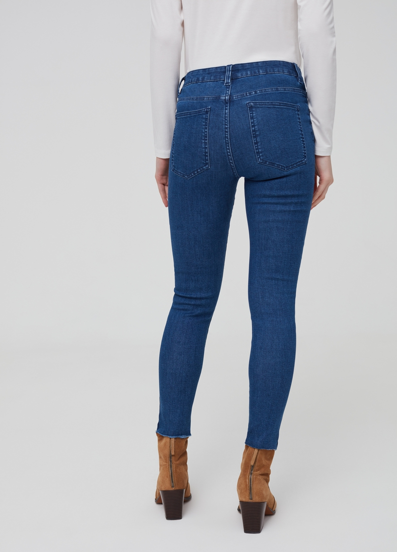Skinny-fit stretch crop jeans image number null