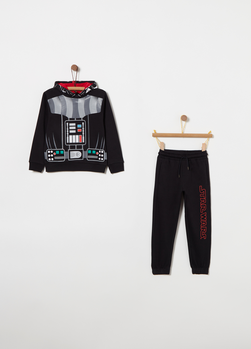 Jogging set in felpa stampa Star Wars image number null