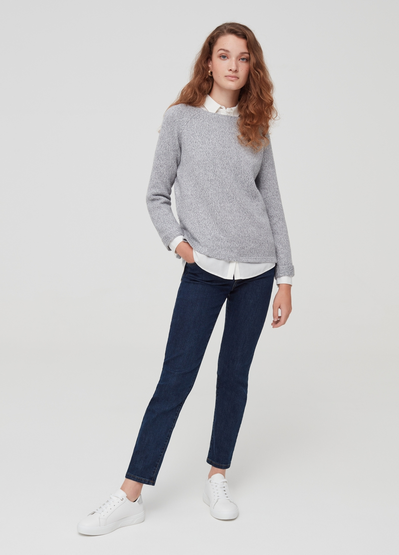 Pullover con lurex e spacchi image number null