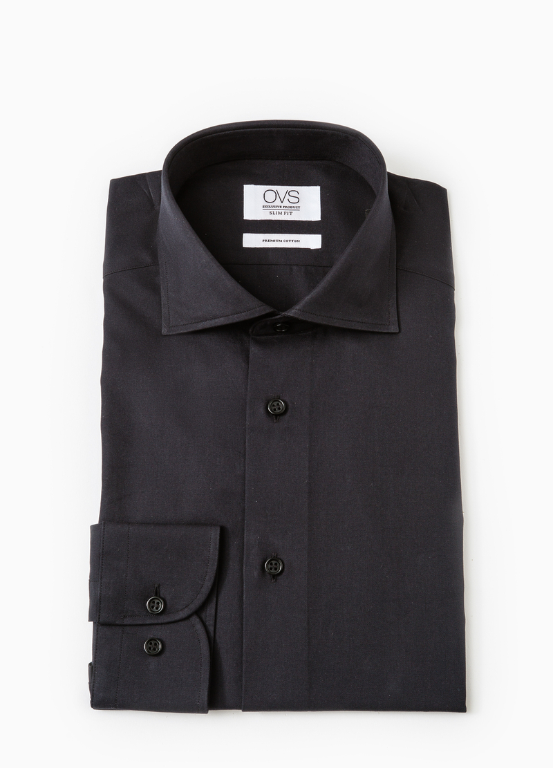 Camicia formale slim fit collo francese image number null