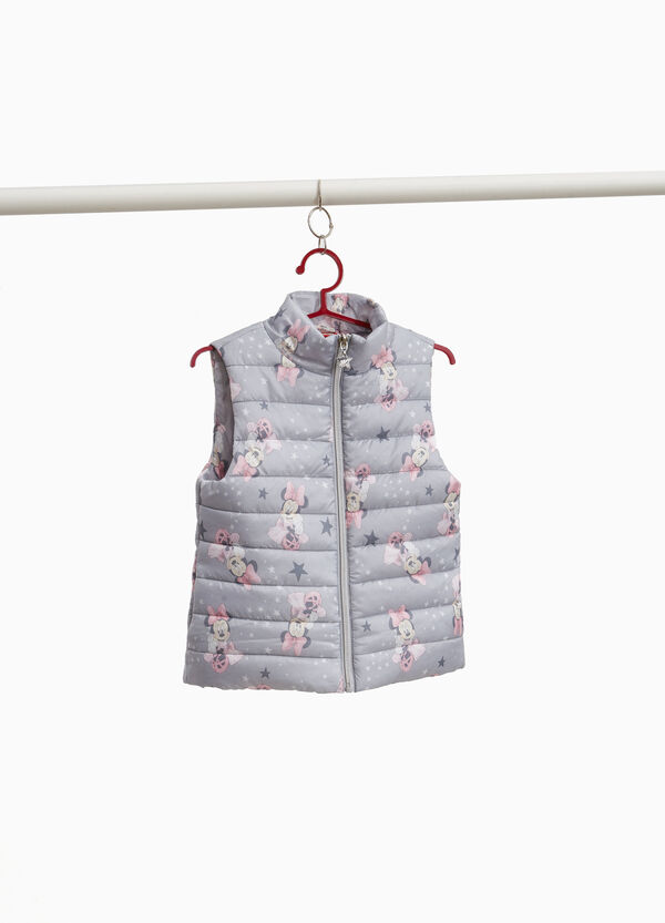Gilet imbottito stampa Minnie all-over