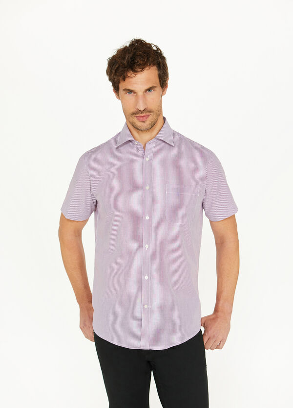 Camicia casual regular fit misto cotone
