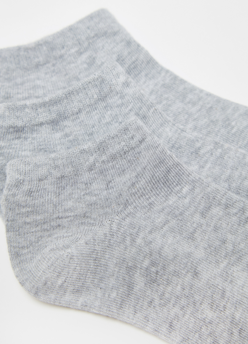 Three-pair pack short socks in stretch cotton image number null