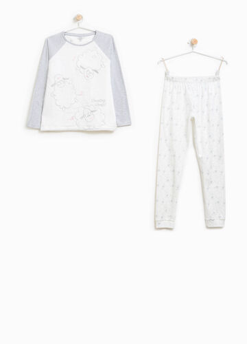 Pyjamas with embroidery and sheep pattern