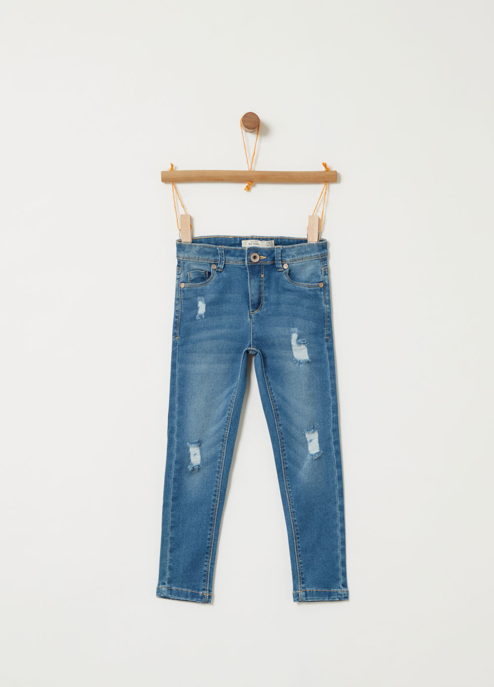 Denim superskinny fit effetto vintage