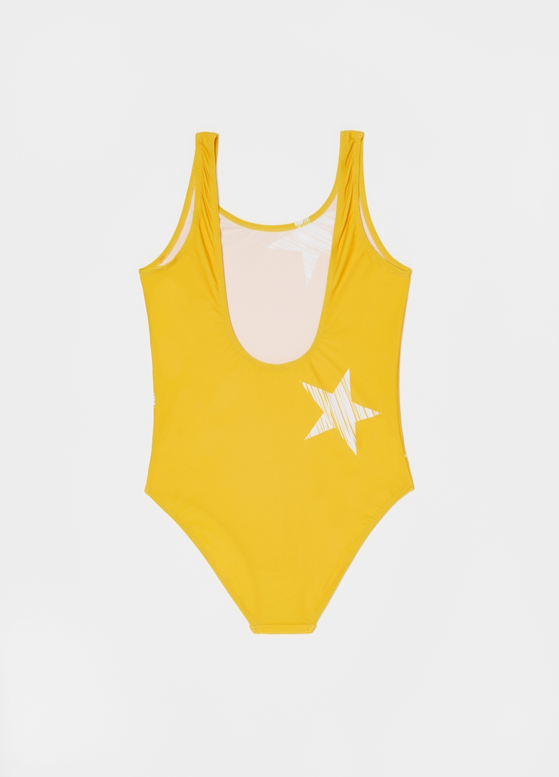 One-piece swimsuit with stars pattern image number null