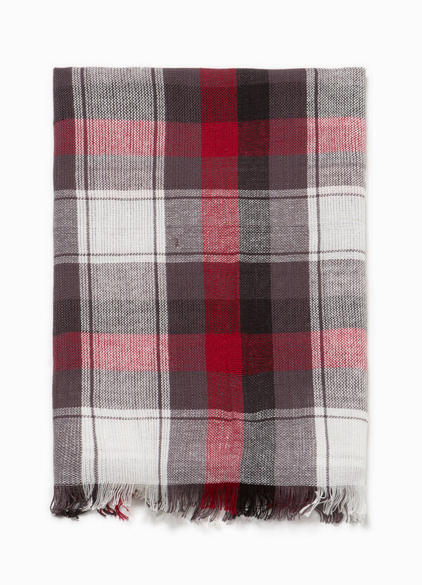 Tartan patterned viscose pashmina | OVS