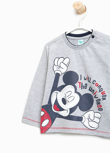 T-shirt in cotone stampa Mickey Mouse