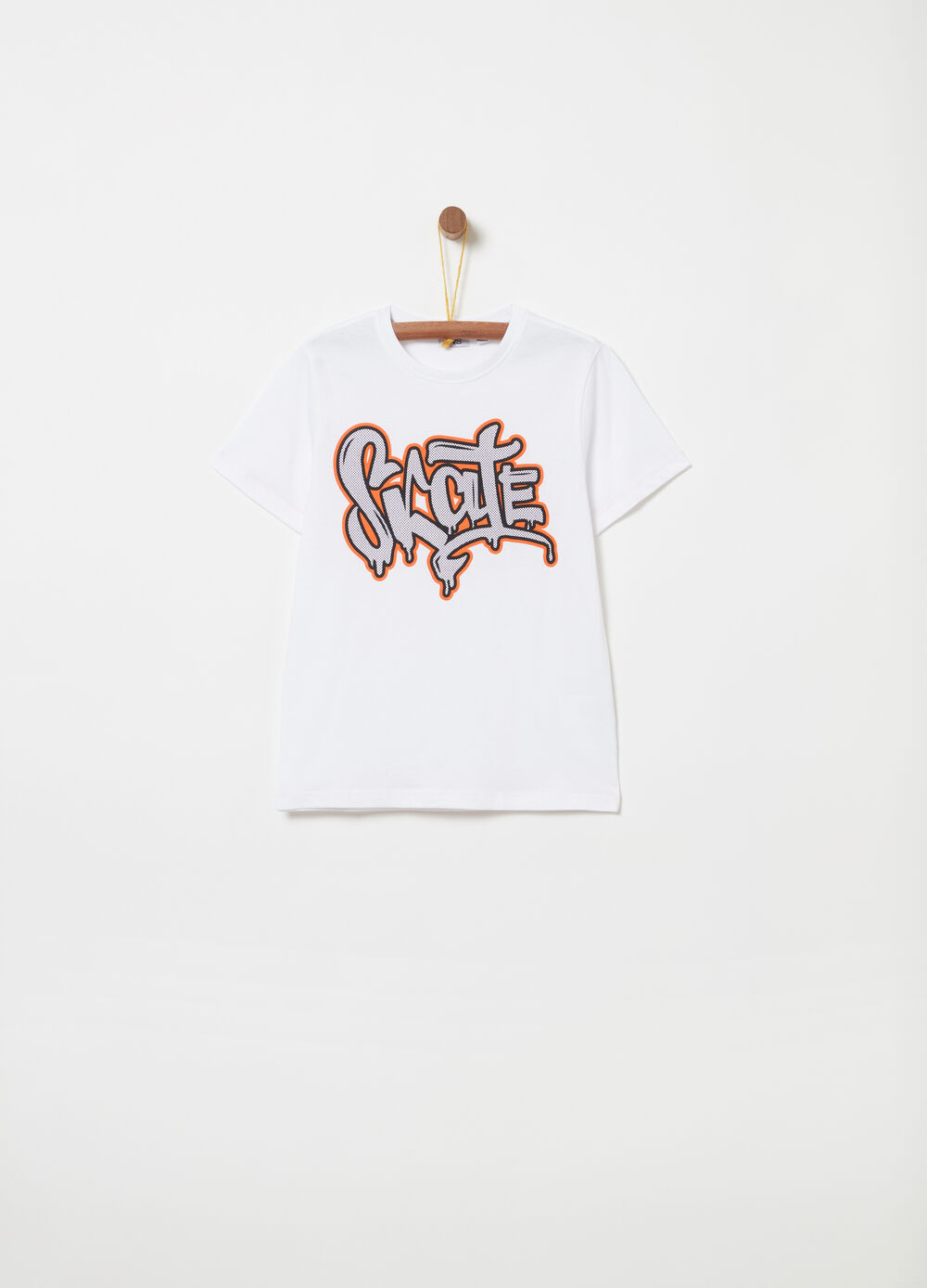 T-shirt jersey cotone con lettering
