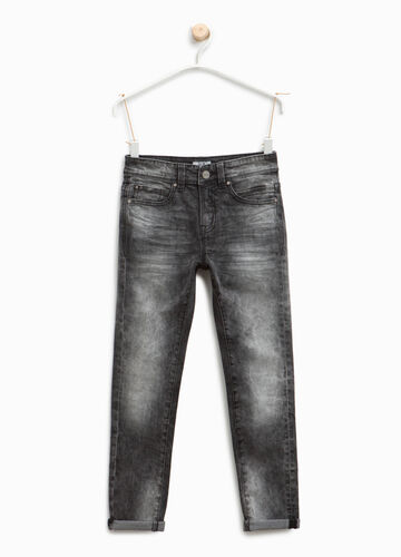 Misdyed effect slim-fit stretch jeans