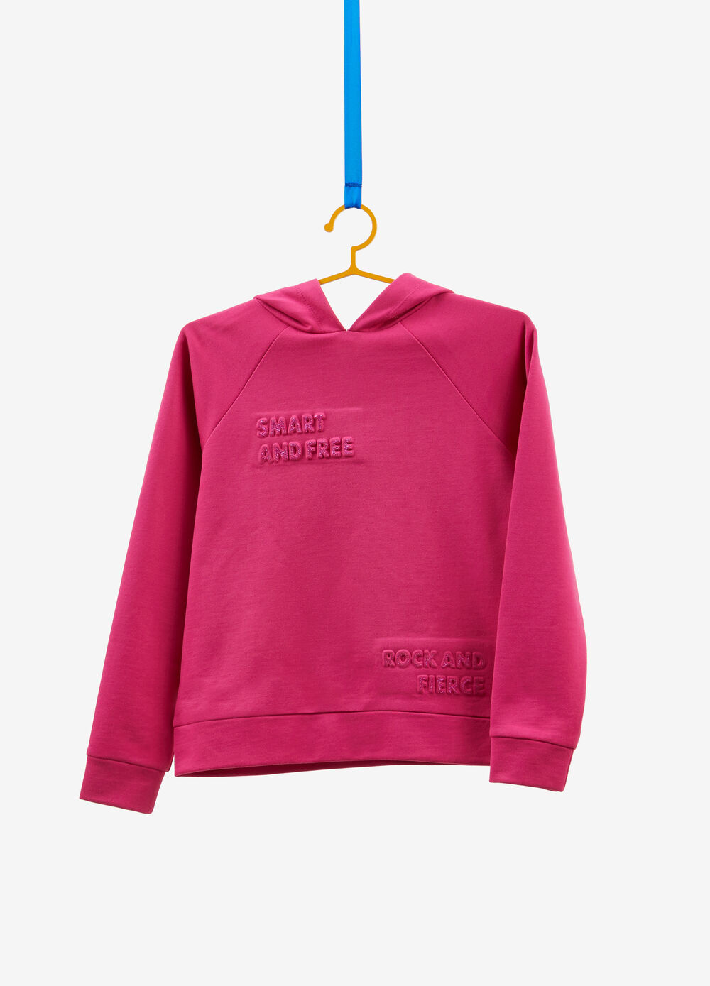Sweatshirt in 100% cotton with flocked print