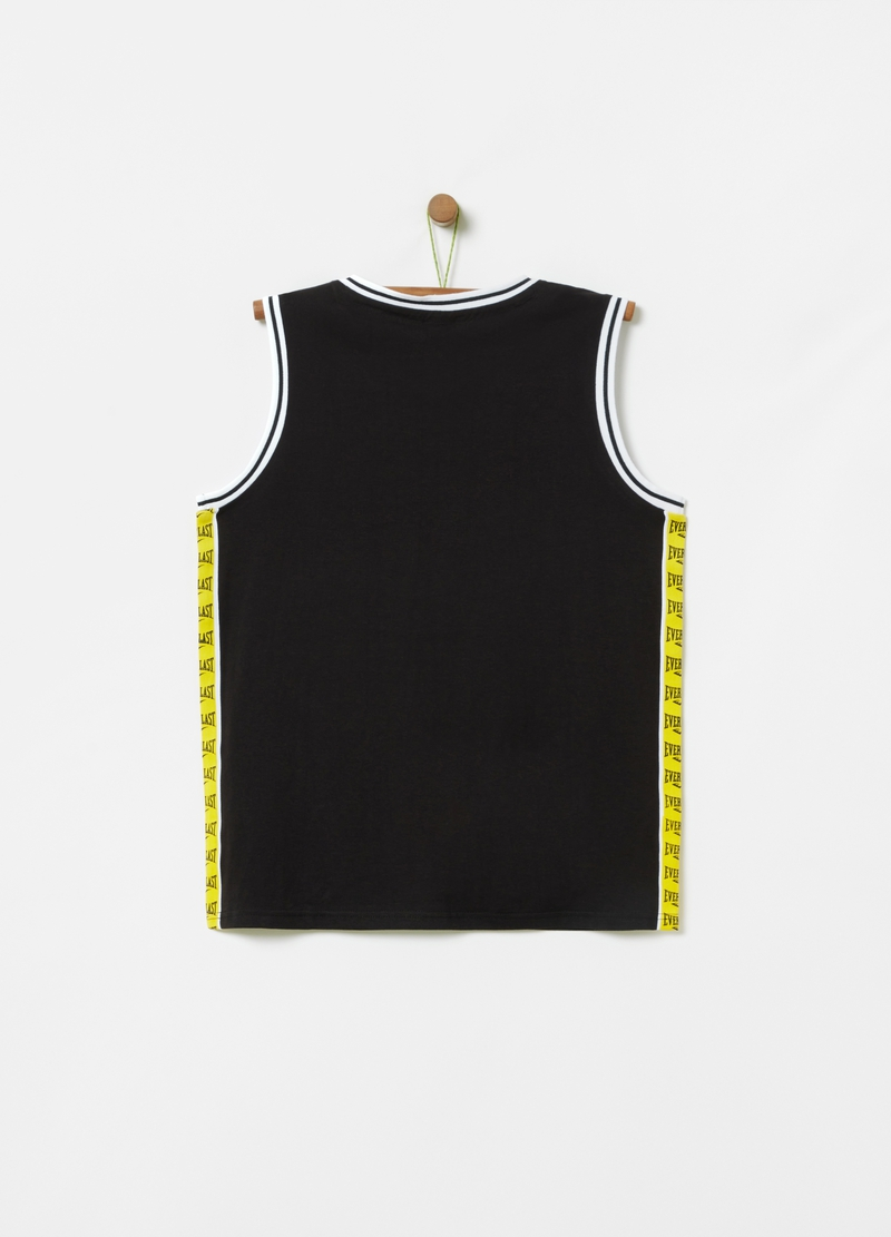 Cotton tank top with Everlast print image number null