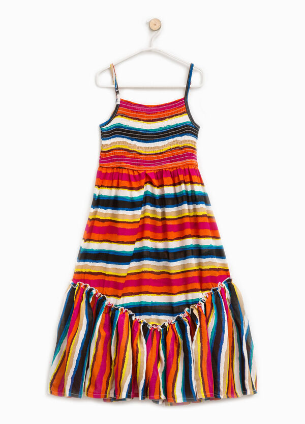 Viscose dress with striped pattern | OVS