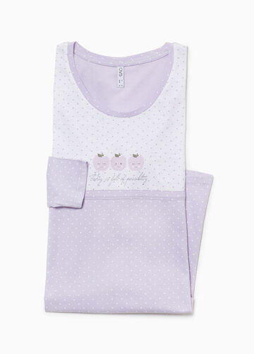 Two-tone polka dot nightshirt