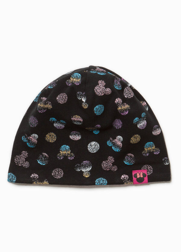 Minnie Mouse-pattern beanie cap