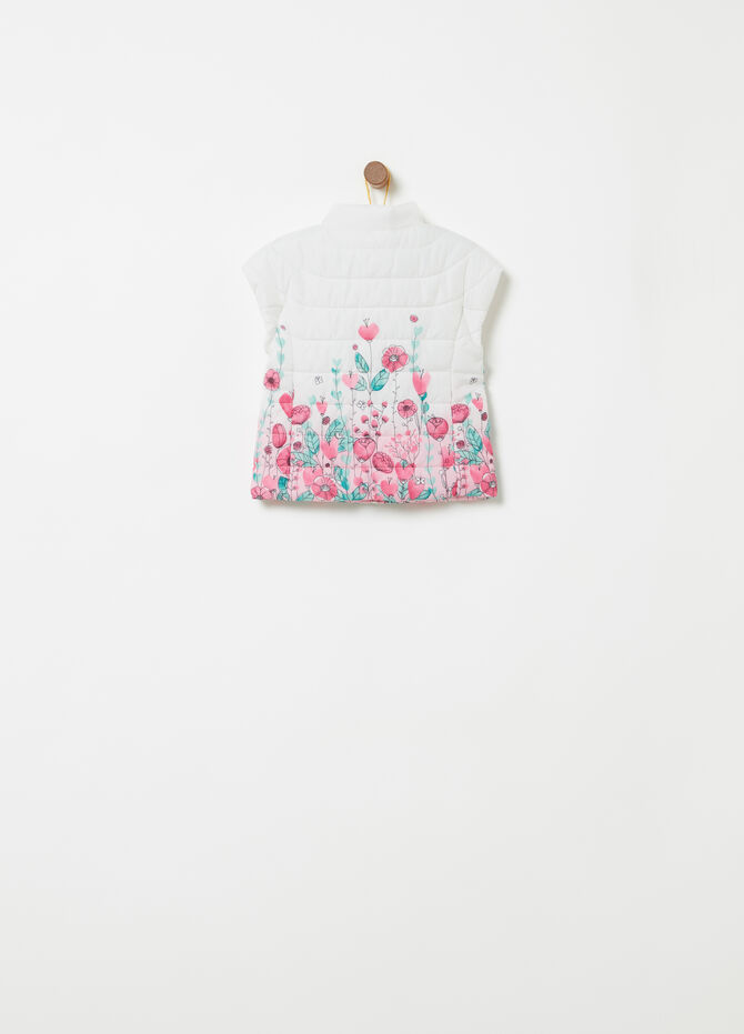 Gilet imbottito stampa floreale all-over