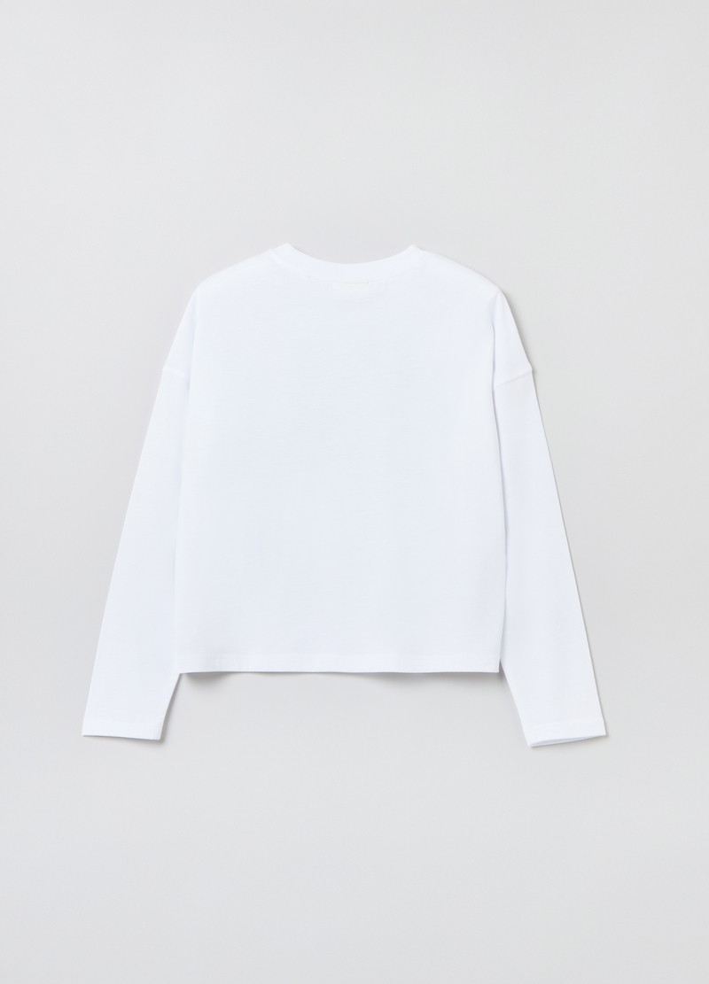 T-shirt oversize con stampa orsacchiotto image number null