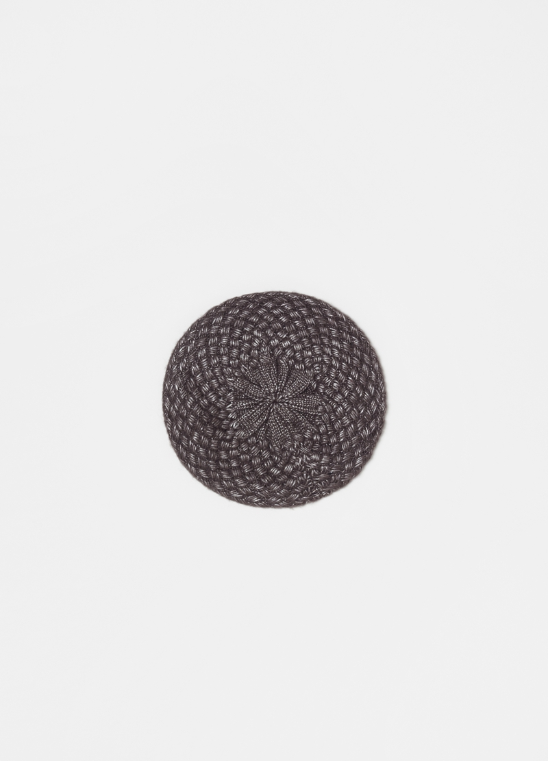 Beret with lamé inserts image number null